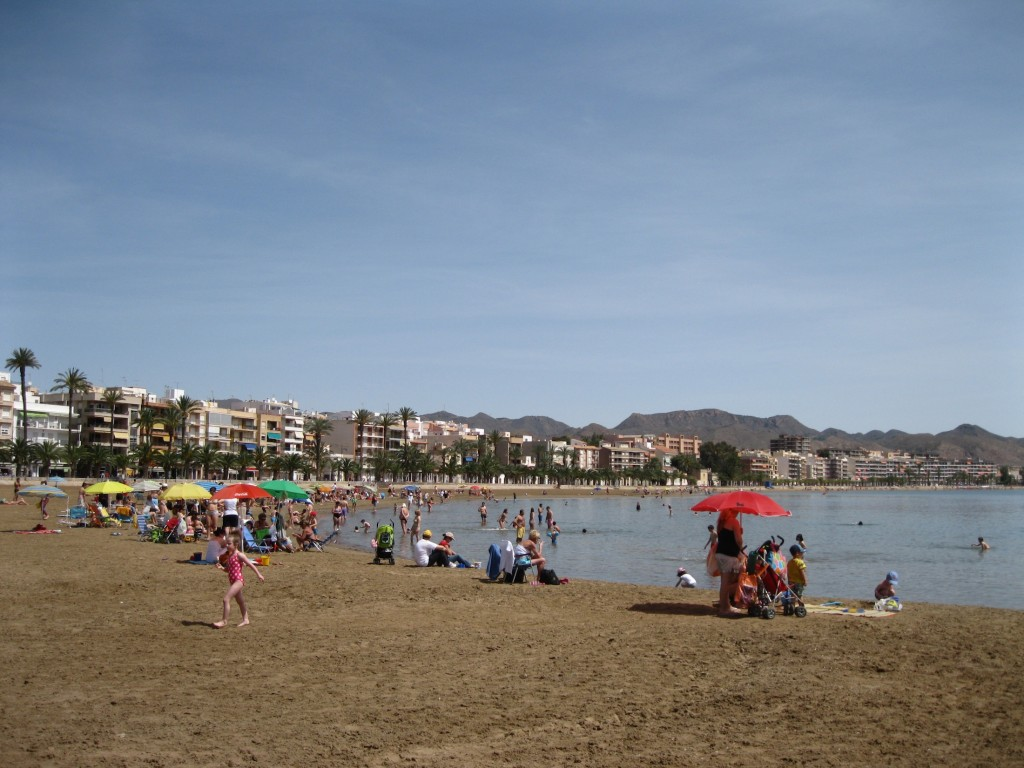 The beach at Puerto de Mazarron