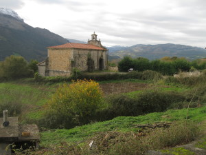 The church in Mentera, an easy walk from here.