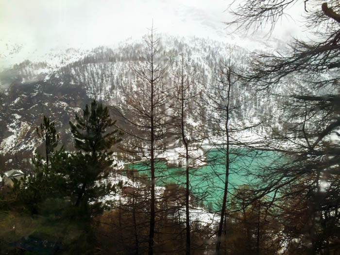 Granted, this is a tough act to follow. View in the Swiss Alps from the World Heritage train segment, The Bernina Express.